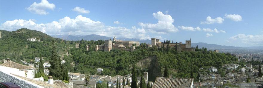 Panorama of Generalife (3 pics)