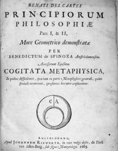Spinozino djelo Načela filozofije Renéa Descartesa