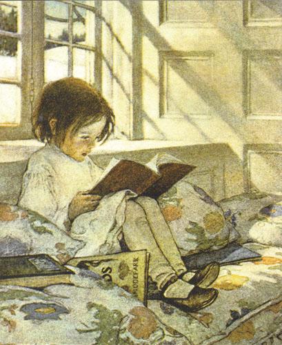 Djecak čita bajku