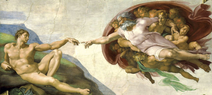 the_creation_of_adam_by_michelangelo