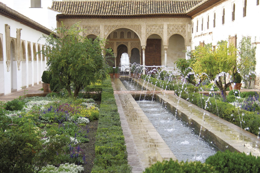 Dvorište s vodenim vrtom (Patio de la Acequia), Palača Generalife, Granada