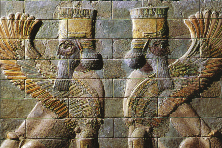 Krilati lavovi s ljudskim glavama, Suza, Ahemenidsko carstvo.