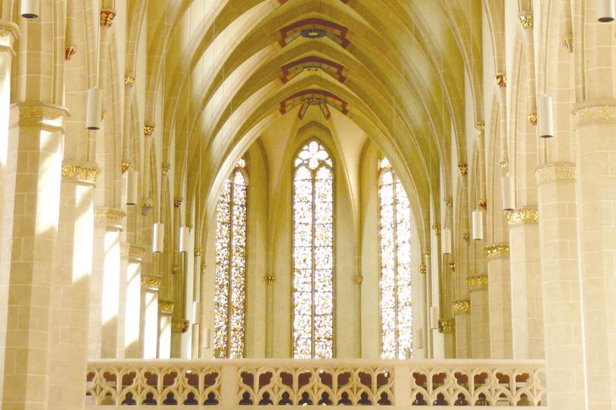 Predigerkirche u Erfurtu. Crkvu i samostan u kojem je Eckhardt bio glavar podigli su dominikanci u XIII. stoljeću. Nakon reformacije crkva je postala protestantska.