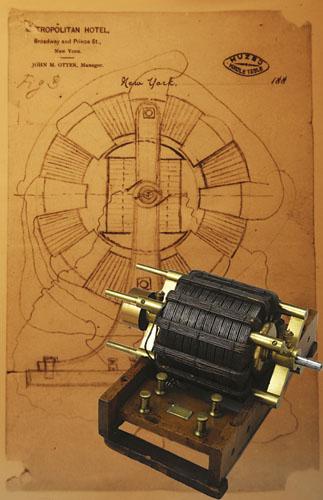 Nikola Tesla Induction Motor Drawing