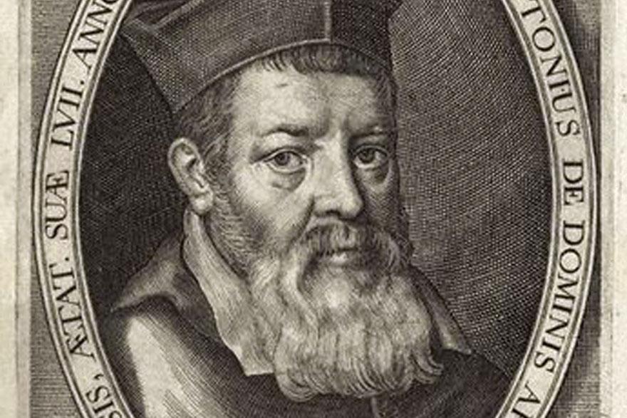 Marco Antonio de Dominis,by; after Jansonius; Michiel Jansz. van Miereveldt