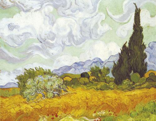 Žitno polje s čempresima, Vincent van Gogh, 1889. g., Nacionalna galerija, London