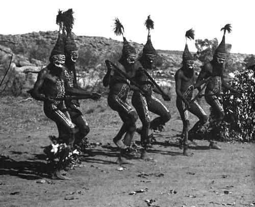 Ceremonija Tjitjingalla, pleme Aranda, 27-30. travnja 1901, Alice Springs.