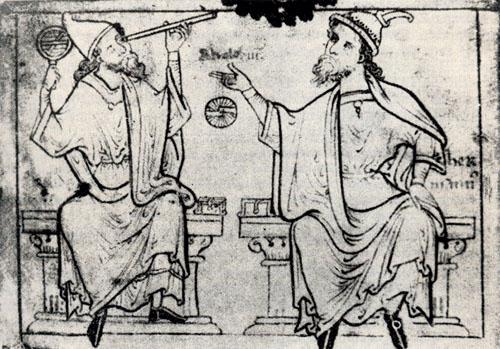 Herman Dalmatin (desno) i Euklid.
