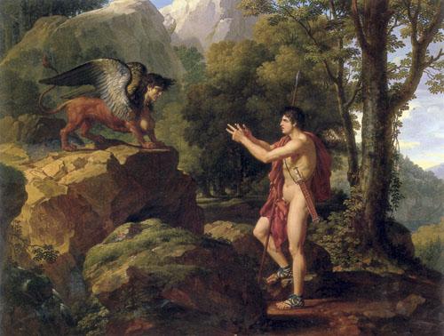 Edip i sfinga, Fransois Xsavier Fabri (1766. - 1837.)