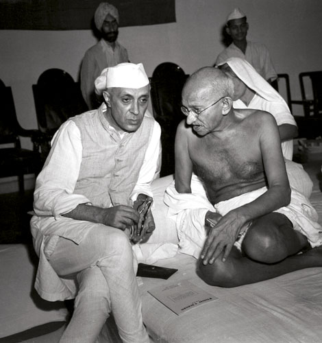 GANDHI_Gandhi_and_Nehru_1942