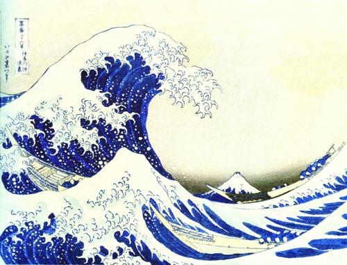 Katsushika Hokusai, Veliki val kod Kanagawe.