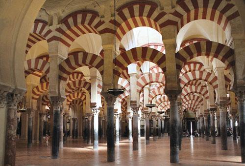 Katedrala u Cordobi, nekadašnja arapska džamija, koju je 785. g. podigao kalif Omejad Abd-ar-Rahman.