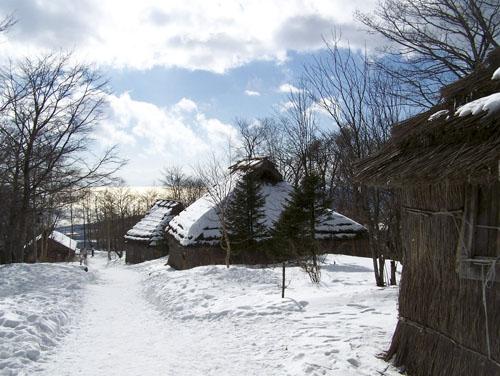Noboribetsu Hokkaido Bear Park- old Ainu huts