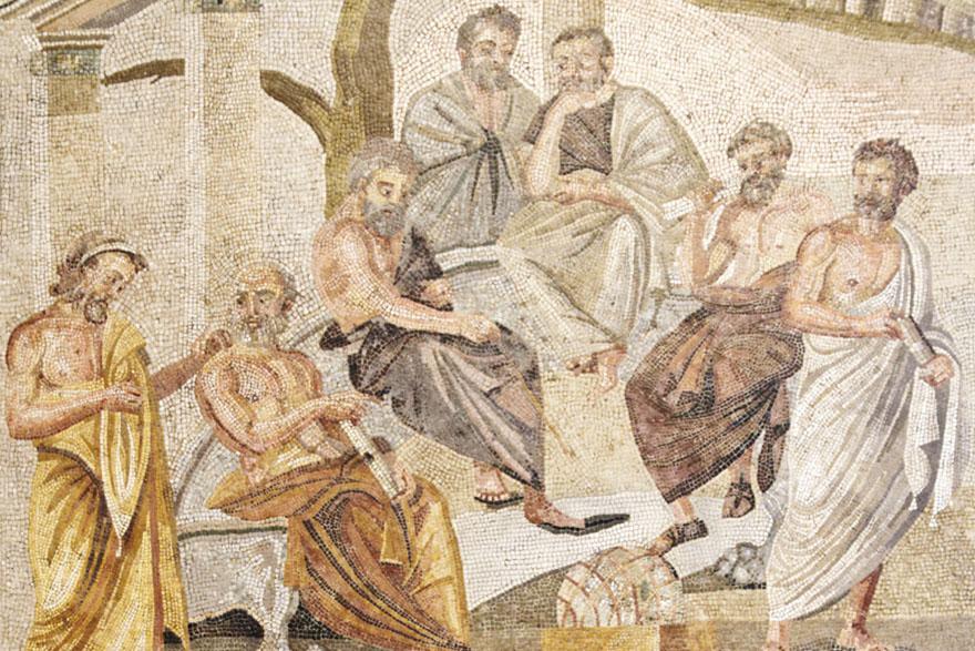 Rimski mozaik iz Pompeja, 1. st. pr. Kr. Nacionalni muzej u Napulju.