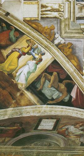 Judita predaje pratilji odsječenu Holofernovu glavu.