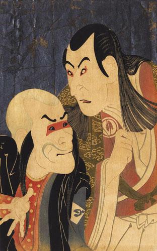 Toshusai Sharaku, Dva kabuki glumca: Bando Zenji i Sawamura Yodogoro