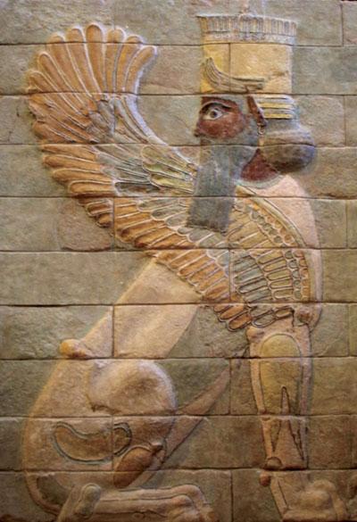 Krilata sfinga iz Darijeve palače u Suzi, Perzijsko carstvo (480. g. pr. Kr.)