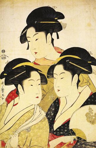 Kitagawa Utamaro, Tri modela: O-Hisa, O-Kita i O-Hina.