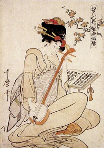 UtamaroShamisen