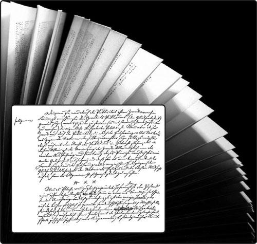 Vječni mir, dio zadnje stranice Kantovog rukopisa.