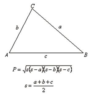 Heronova formula za površinu trokuta.