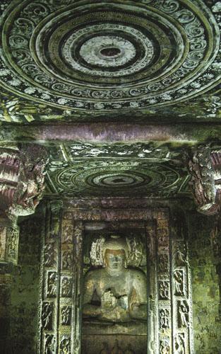 Prikaz Buddhe s rukama u položaju podučavanja, Pećina 1