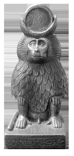 Egipatski bog Thot prikazivan je u liku babuna.
