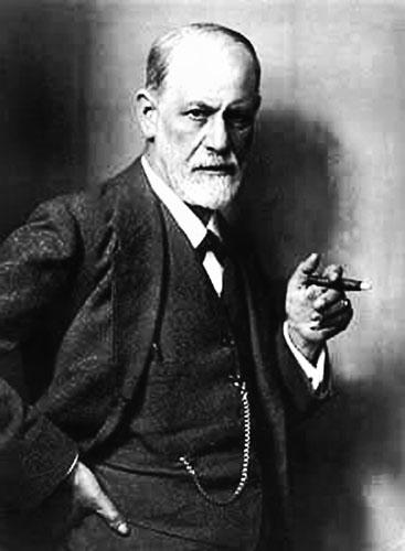 Sigmund Freud, kojeg je Fromm kritizirao zbog ograničene definicije ljudske svijesti, proturječja između teorija te kao patrijarhalnog ženomrsca.