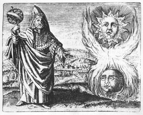 Hermes Trismegistos i kreativna vatra koja sjedinjuje suprotnosti (Maier M., 1617.).
