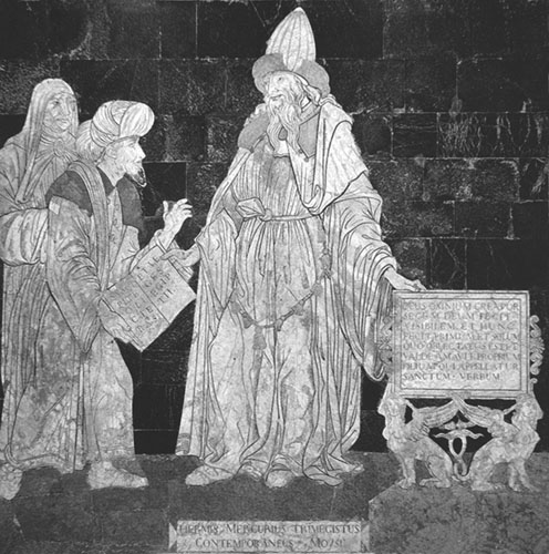 Prikaz Hermesa Trismegistosa u katedrali u Sieni (Italija).