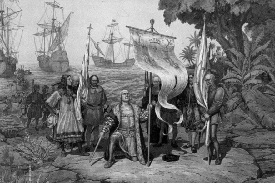 Kolumbov dolazak u Novi svijet. Jedan od njegovih pratilaca bio je i Bartoloméov otac.