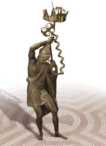 Brončani kip Aresa Dioniza, muzej u blizini Pariza