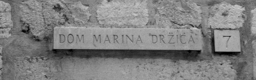 MARIN DRZIC_Dom
