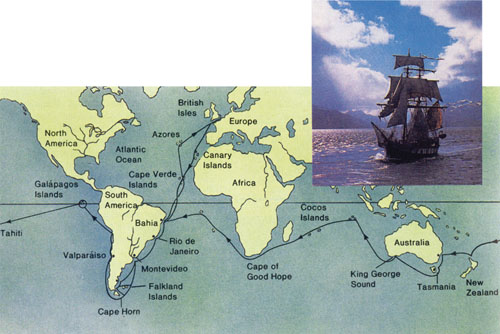 U razdoblju od 1831. do 1836. godine Charles Darwin je proputovao svijet na ratnom brodu Beagle, vršeći prirodoznanstvena istraživanja. Najviše vremena proveo je  istražujući obale i otoke Južne Amerike, osobito otočje Galapagos.