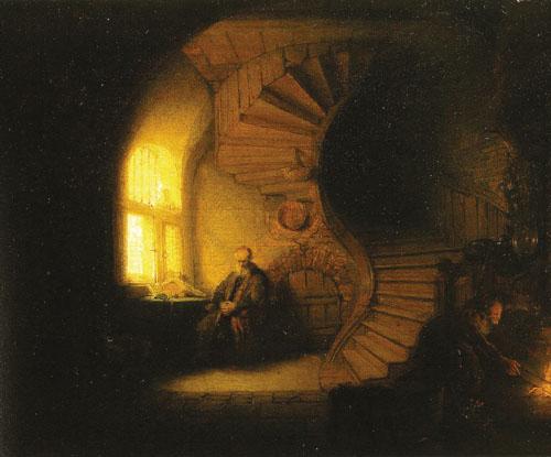 Rembrandt_Philosopher_Meditating