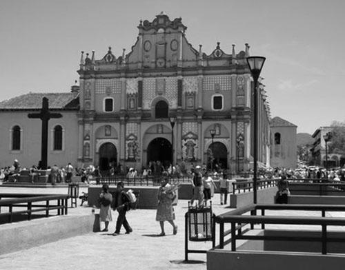 Katedrala u San Cristóbal de las Casasu, glavnom gradu pokrajine Chiapas u  Meksiku.