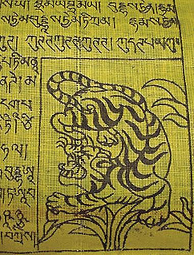 Jedan od 4 dostojanstvenika – grupa je simbola prikazanih u vidu četiriju posebno štovanih životinja: garude, nebeskog zmaja, snježnog lava i tigra. Obično su prikazani u uglovima molitvenih zastavica.