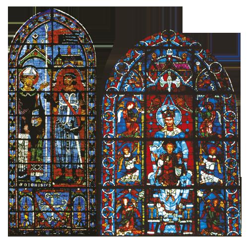 Vitraji gotičke umjetnosti su zidovima od svjetla zamijenili oslikane zidove romaničkih crkava.