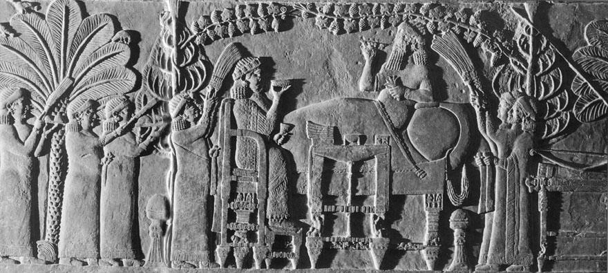 Dio alabasternog reljefa iz Sjeverne palače kralja Asurbanipala u Ninivi, oko 645. g. pr.Kr.