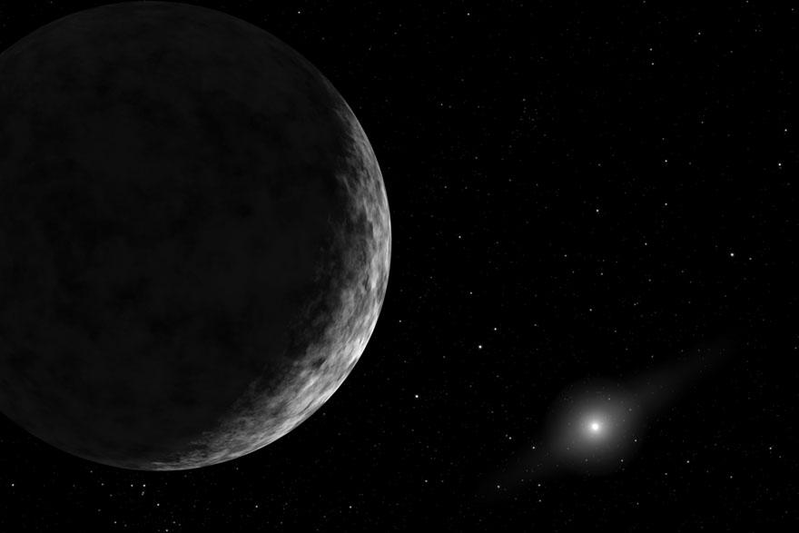 Deseti planet, umjetnički prikaz.