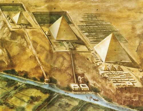 Prikaz rekonstrukcije uzvisine u Gizi.
