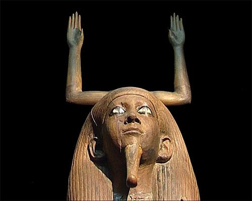 Drveni kip dvojnika, Ka, kralja Hora, XIII. dinastija, pronađen u njegovoj grobnici u Dahšuru.