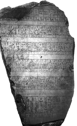 Kamen iz Palerma sadrži popis kraljeva od mitskih vremena do V. dinastije.