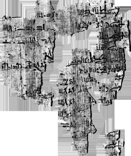 Fragment Torinskog papirusa.