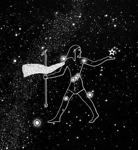 Dr. Otto Neugebauer i Dr. Richard Parker prvi su dali čvrste dokaze da drevno egipatsko zviježđe, u tekstovima poznato kao Sahu, odgovara današnjem zviježđu Orion. Zviježđe Sahu drevnim Egipćanima je bilo važno  jer su vjerovali da duše umrlih faraona postaju zvijezde, i to upravo u zviježđu Sahu. Nadalje, vrata koja su povezivala nebo i zemlju, a koja se u tekstovima nazivaju Rostau ili Rosetjau, prepoznali su kao visoravan Gize. Time su stvorili temelje kasnijim autorima koji su otkrili povezanost egipatskih piramida za zviježđem Oriona.