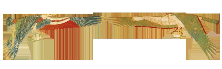 Prikazi božice Nekhbet s raširenim krilima što predstavlja simbol duhovne zaštite. Hram božice Hatšepsut.