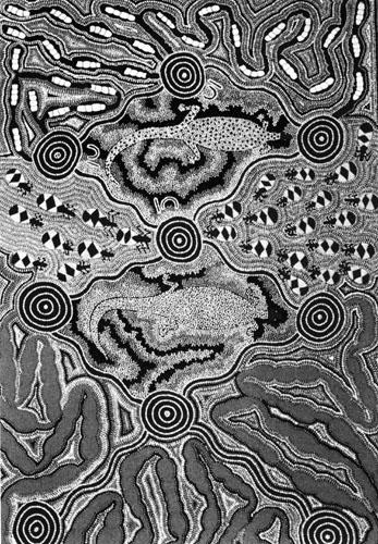 Svojim bogatim simboličkim rječnikom umjetnost Aboridžina prenosi najkompleksnije metafizičke ideje i duhovne poruke.