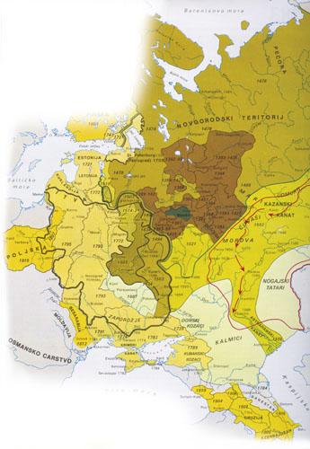 Razvoj i ekspanzija Rusije od kraja XIII. do početka XIX. stoljeća.
