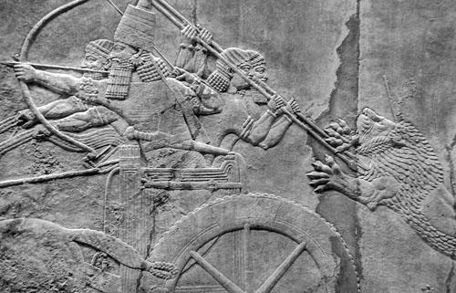 Kraljevski lov na lavove. Sjeverna palača u Ninivi, 645. - 635. g. pr.Kr.