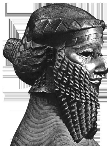 Brončana glava vladara pronađena na području Ninive, oko 2200. g. pr.Kr.